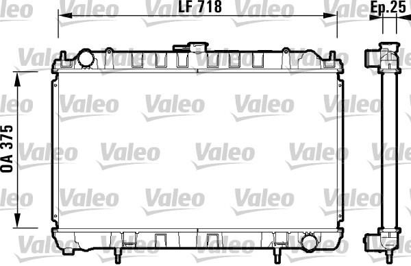 Radiateur, refroidissement du moteur - VALEO - 734128