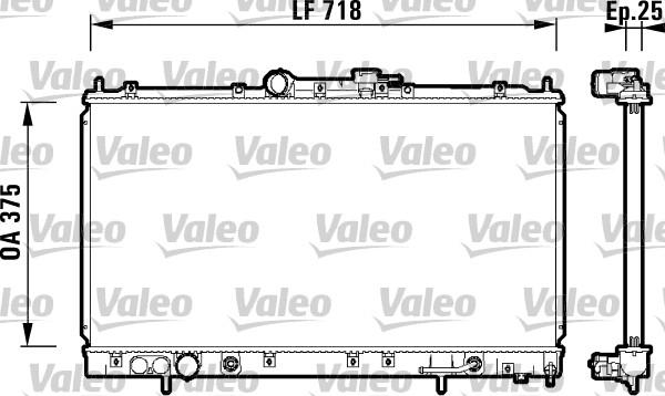 Radiateur, refroidissement du moteur - VALEO - 734129