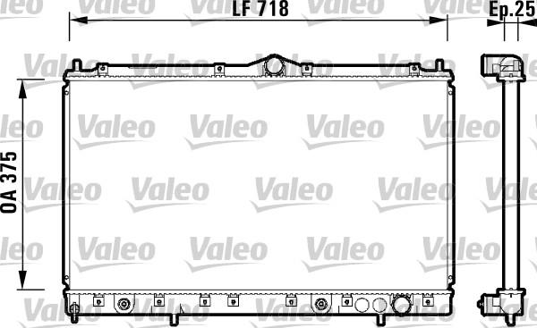 Radiateur, refroidissement du moteur - VALEO - 734130