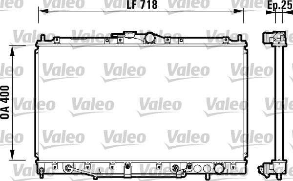 Radiateur, refroidissement du moteur - VALEO - 734131