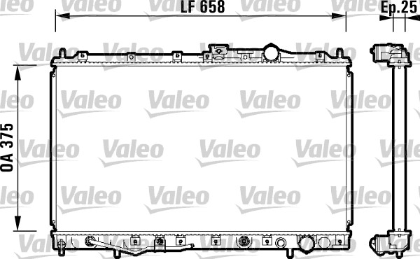 Radiateur, refroidissement du moteur - VALEO - 734132