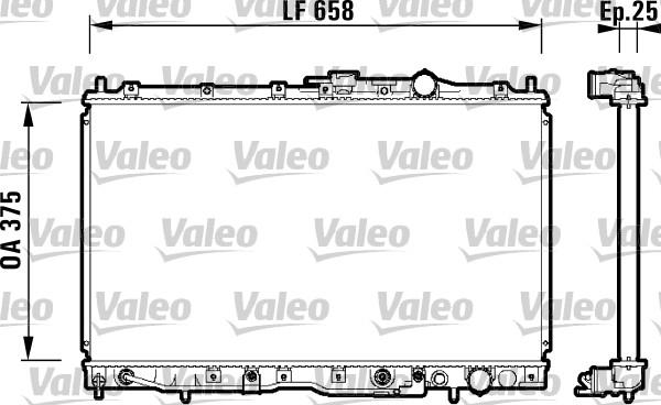 Radiateur, refroidissement du moteur - VALEO - 734135