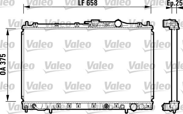 Radiateur, refroidissement du moteur - VALEO - 734137