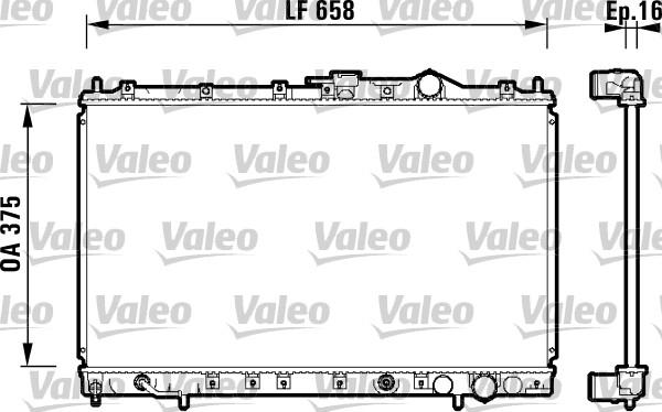 Radiateur, refroidissement du moteur - VALEO - 734138