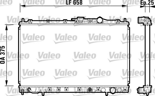 Radiateur, refroidissement du moteur - VALEO - 734139