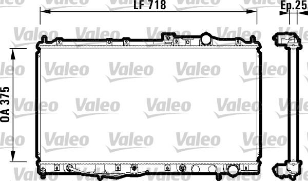 Radiateur, refroidissement du moteur - VALEO - 734142