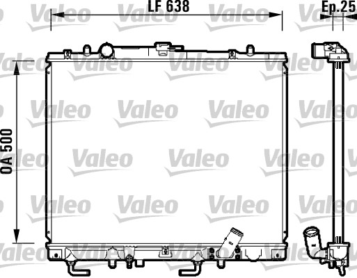 Radiateur, refroidissement du moteur - VALEO - 734143