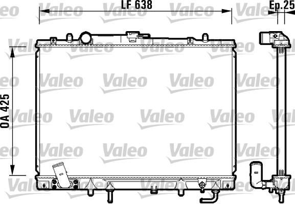 Radiateur, refroidissement du moteur - VALEO - 734144