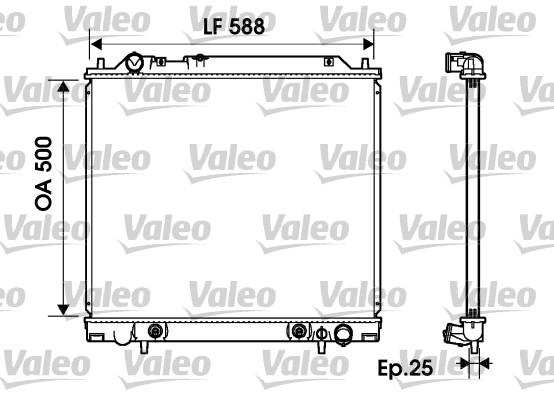 Radiateur, refroidissement du moteur - VALEO - 734145