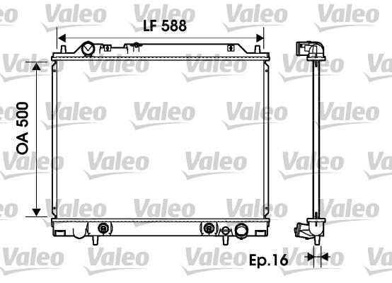 Radiateur, refroidissement du moteur - VALEO - 734146