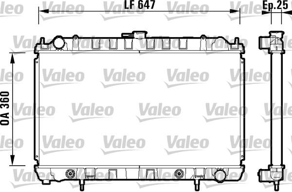 Radiateur, refroidissement du moteur - VALEO - 734149