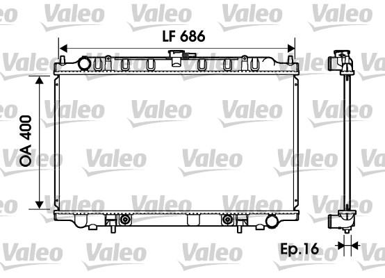 Radiateur, refroidissement du moteur - VALEO - 734150