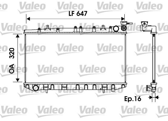 Radiateur, refroidissement du moteur - VALEO - 734151