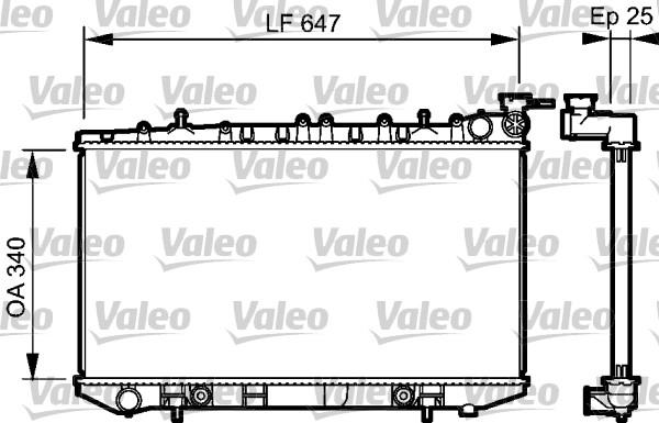 Radiateur, refroidissement du moteur - VALEO - 734152