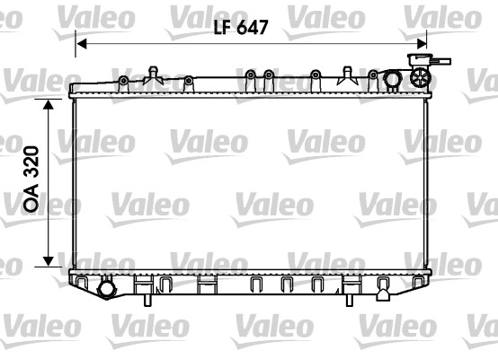 Radiateur, refroidissement du moteur - VALEO - 734155