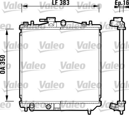 Radiateur, refroidissement du moteur - VALEO - 734157