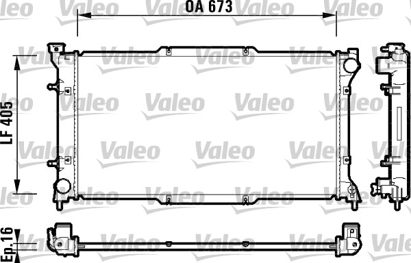 Radiateur, refroidissement du moteur - VALEO - 734158