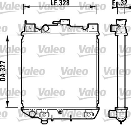 Radiateur, refroidissement du moteur - VALEO - 734159