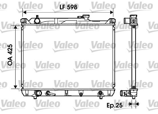 Radiateur, refroidissement du moteur - VALEO - 734161