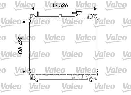 Radiateur, refroidissement du moteur - VALEO - 734162