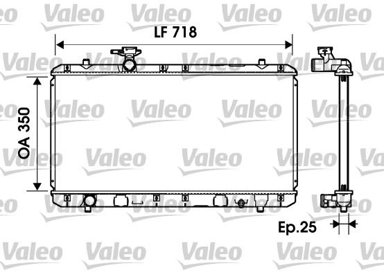 Radiateur, refroidissement du moteur - VALEO - 734164