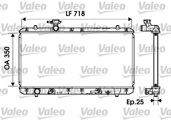 Radiateur, refroidissement du moteur - VALEO - 734165