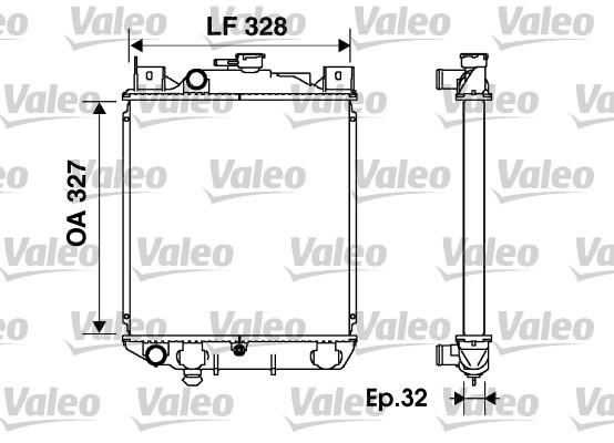 Radiateur, refroidissement du moteur - VALEO - 734166