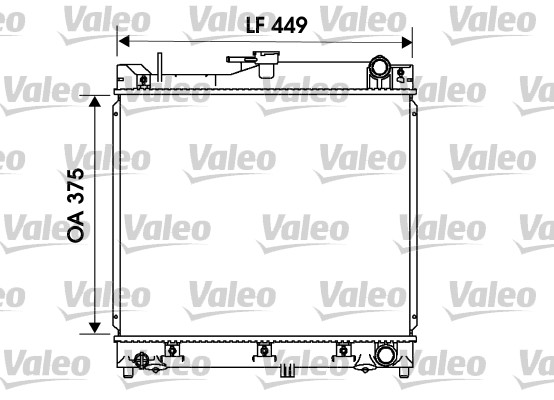 Radiateur, refroidissement du moteur - VALEO - 734170