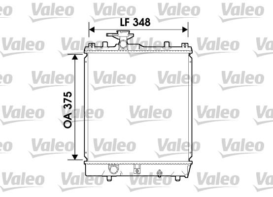 Radiateur, refroidissement du moteur - VALEO - 734171