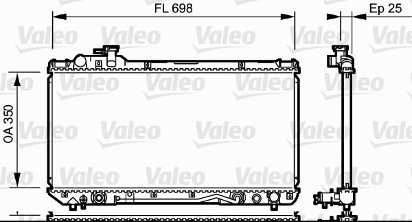 Radiateur, refroidissement du moteur - VALEO - 734172