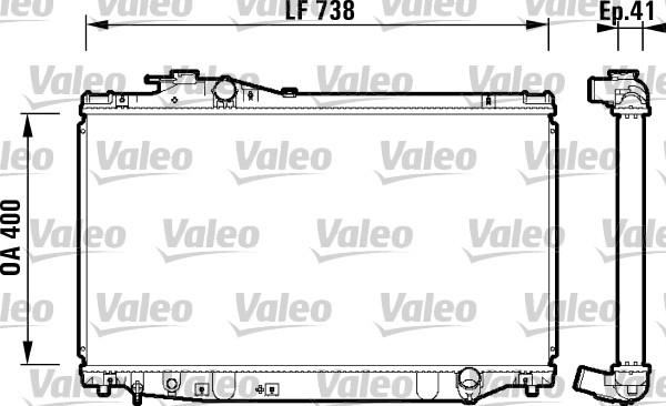 Radiateur, refroidissement du moteur - VALEO - 734174