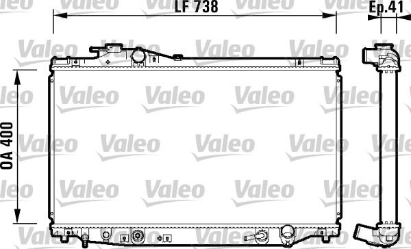Radiateur, refroidissement du moteur - VALEO - 734175