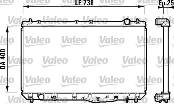 Radiateur, refroidissement du moteur - VALEO - 734177