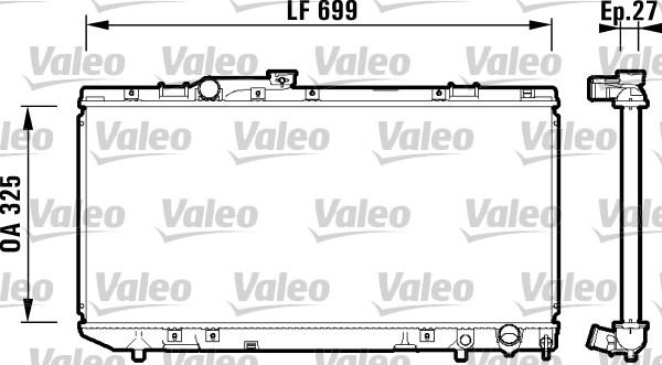 Radiateur, refroidissement du moteur - VALEO - 734181