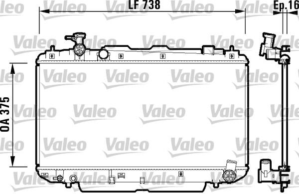 Radiateur, refroidissement du moteur - VALEO - 734182