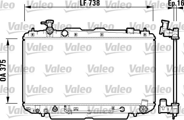 Radiateur, refroidissement du moteur - VALEO - 734183