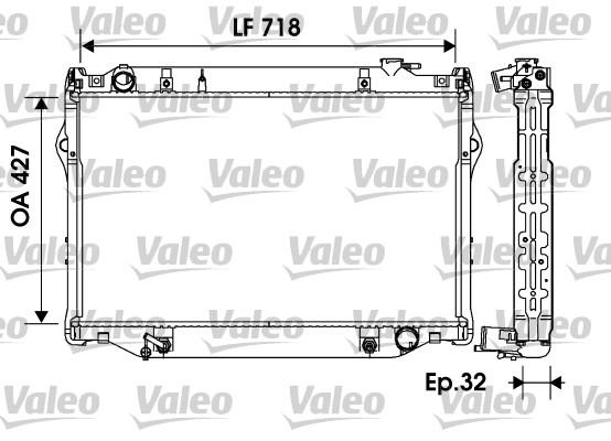 Radiateur, refroidissement du moteur - VALEO - 734185
