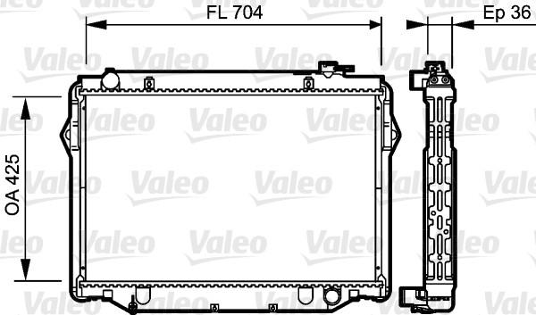 Radiateur, refroidissement du moteur - VALEO - 734189