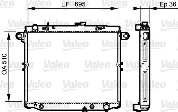 Radiateur, refroidissement du moteur - VALEO - 734190