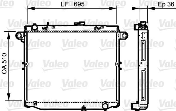 Radiateur, refroidissement du moteur - VALEO - 734191
