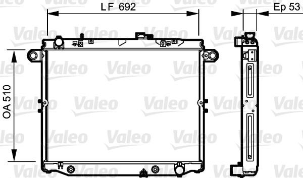 Radiateur, refroidissement du moteur - VALEO - 734192