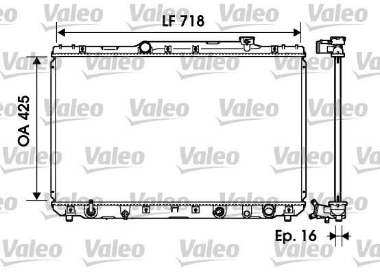 Radiateur, refroidissement du moteur - VALEO - 734193
