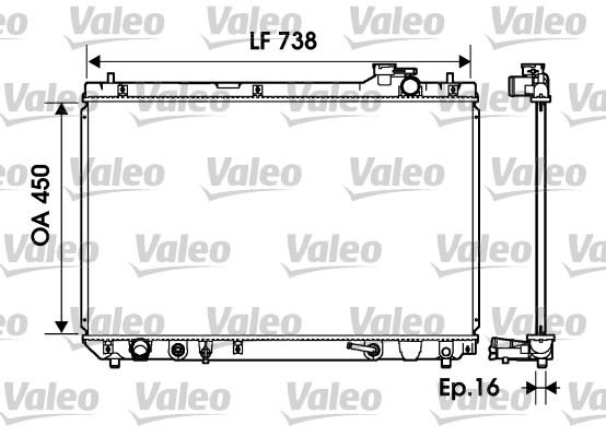 Radiateur, refroidissement du moteur - VALEO - 734194