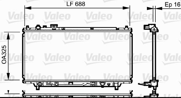 Radiateur, refroidissement du moteur - VALEO - 734195