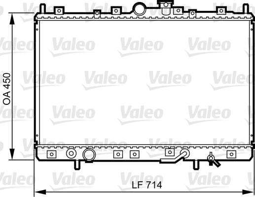 Radiateur, refroidissement du moteur - VALEO - 734196