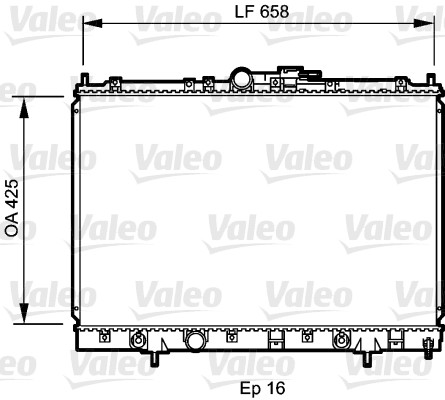 Radiateur, refroidissement du moteur - VALEO - 734197