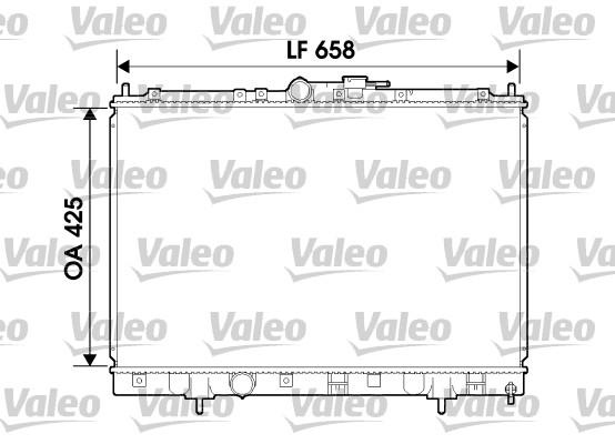 Radiateur, refroidissement du moteur - VALEO - 734198