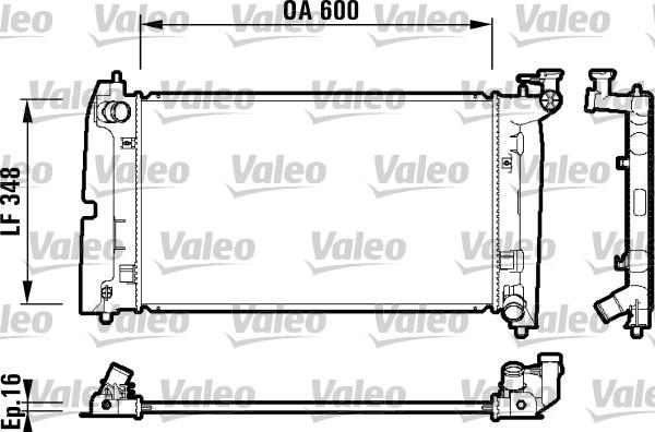 Radiateur, refroidissement du moteur - VALEO - 734199
