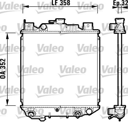 Radiateur, refroidissement du moteur - VALEO - 734203