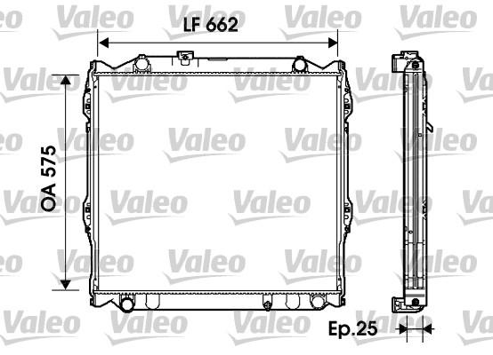 Radiateur, refroidissement du moteur - VALEO - 734204